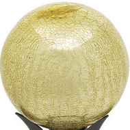"Achla 10"" Gazing Globe Ivory Gold Crackle"