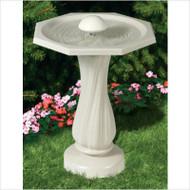 Allied Bird Bath w/ Water Wiggler & Pedestal