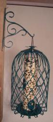 Songbird Essentials Caged Seed Feeder Large Green