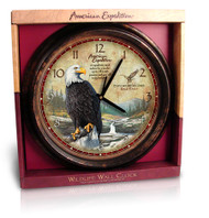 American Expedition Bald Eagle Wall Clock