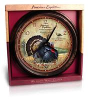 American Expedition Wild Turkey Wall Clock