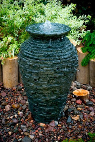 Stacked Slate Urn Small Fountain