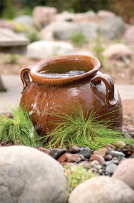 Ceramic Slanting Jar - Brown