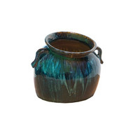 Ceramic Slanting Jar - Blue