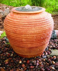 Ceramic Urn Bubbler - Tan