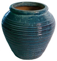 Ceramic Urn Bubbler - Blue