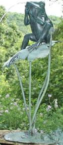 Brass Baron Big Bullfrog Fountain