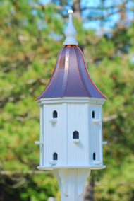 "Fancy Home Products Decorative Dovecote Birdhouse With Bright Copper Bell Roof 16"" BH-16-12-BC BELL"