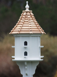 """Fancy Home Products Slope Birdhouse Cypress Shingle 14"""" BH14-8-CS SLOPE"""