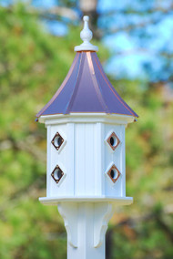 Fancy Home Products Slope Birdhouse Bright Copper Roof BH14-8CP-BC SLOPE
