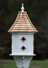 Fancy Home Products Slope Birdhouse Cypress Shingle Roof BH14-8CP-CS SLOPE