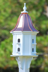 Fancy Home Products Bell Birdhouse Bright Copper Roof BH14-8-BC BELL