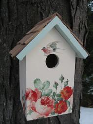 Home Bazaar Printed Standard Peony Bird House