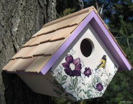 Home Bazaar Printed Wren Anemone Hanging Bird House