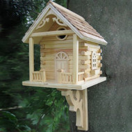 Home Bazaar Natural Cabin Bird House