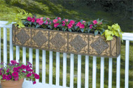Deer Park Ironworks WB138 Small Diamond Window Box With Cocoa Moss Liner