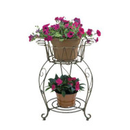 Deer Park Ironworks Small Round Wave Planter