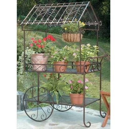 Deer Park Ironworks Large Flower Carts Decorative Planter Carts