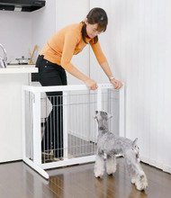 Richell Freestanding Pet Gate HS White