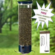Droll Yankees Whipper Squirrel Proof Bird Feeder YCPW-180 Plus FREE Droll Locking Chain LC18