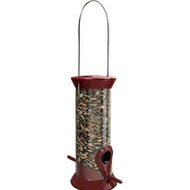 Droll Yankee New Generation Sunflower Bird Feeder, Small Burgandy