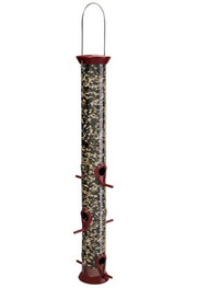 Droll Yankee New Generation Sunflower Bird Feeder, Large Burgandy