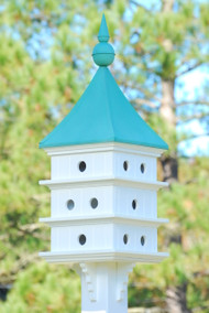 Fancy Home Products Purple Martin House 12 Room Purple Martin House With Patina Roof PMH18-12-PC