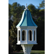 "Fancy Home Products Gazebo Bird Feeder Patina Copper 16"" BF16-PC-BELL"