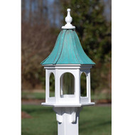 "Fancy Home Products Gazebo Bird Feeder Patina Copper 12"" BF12-PC-PANELS"