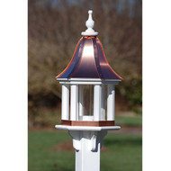 "Fancy Home Products Column Gazebo Bird Feeder Bright Copper 12"" BF12-BC-COLUMNS"