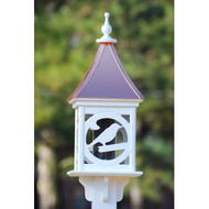 "Fancy Home Products Square Bird Feeder Bright Copper 12"" BF12-SQ-BIRD-BC"
