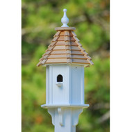 "Fancy Home Products Blue Bird House w/ Perch Cypress Shingle 10"" BH10-CS-PERCH"