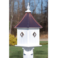"""Fancy Home Products Square Bird House Bright Copper 10"""" BH10-SQ-4CP-BC"""