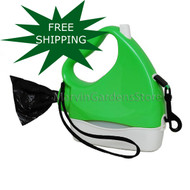 Water Walker Retractable Leash Green/White