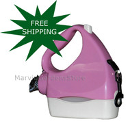 Water Walker Retractable Leash Pink/White