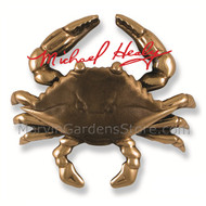 Michael Healy Blue Crab Door Knocker in Bronze & Brown Patina MH1152