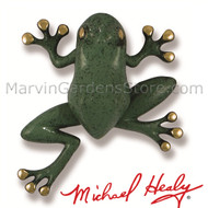 Michael Healy Tree Frog Door Knocker in Brass & Blue Green Patina MH1401