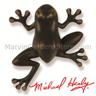 Michael Healy Tree Frog Door Knocker in Oiled Bronze MH1404