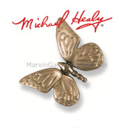 Michael Healy Monarch Butterfly Doorbell Ringer in Nickel Silver MHR45