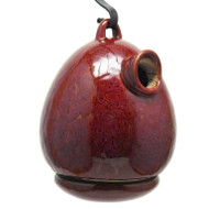 Byer of Maine Alcyon Egg Bird House in Oxide Red SH41223