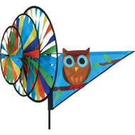 Premier WindGarden Cute Hoot Triple Wind Spinner
