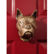 Michael Healy Boxer Dog Door Knocker in Bronze MHDOG03
