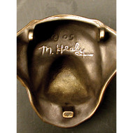 Michael Healy Dachshund Dog Door Knocker in Bronze MHDOG07