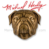 Michael Healy Bulldog Dog Door Knocker in Bronze MHDOG14