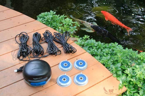 Aquascape Pond Air 4 Aerator 75001  4 Outlets with 4 Air Discs