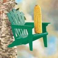 Hiatt Manufacturing Green Adirondack Chair Squirrel Feeder