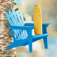 Hiatt Manufacturing Blue Adirondack Chair Squirrel Feeder
