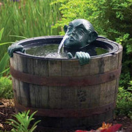 Aquascape Man in Barrel Spitter Fountain with Pump 78016
