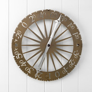 Conant Custom Brass Jeffersonian Wall Thermometer-Brass