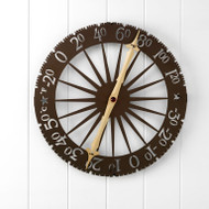 Conant Custom Brass Jeffersonian Wall Thermometer-Bronze Patina
